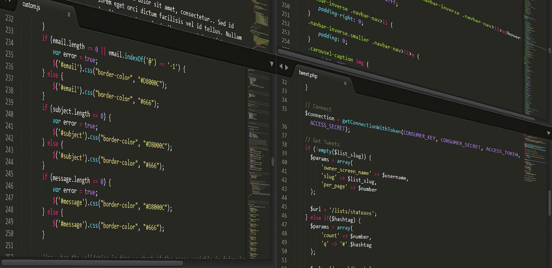Custom website programming